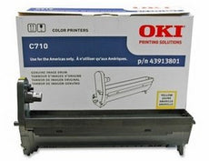 OKIDATA Yellow Laser Drum Unit for C710 Series Printers, 30,000 Pages - 43913801