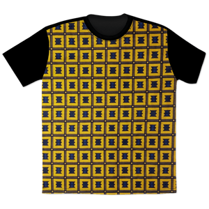 Wax Print Crew Neck T-Shirt