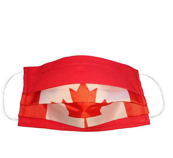 Junior - Pleated Flag Face Masks - 100+ Countries Available
