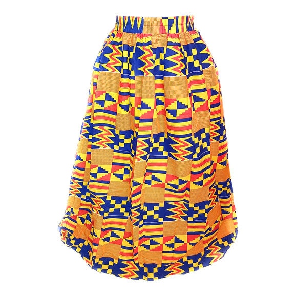 Kente - Maxy Skirt with Pocket and Sash
