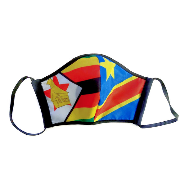 Adult - Two Flag Facemask