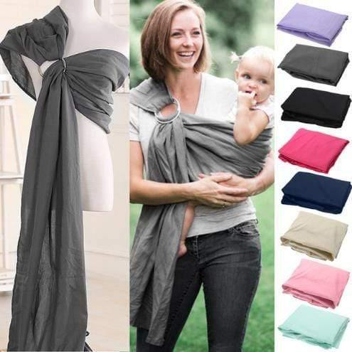 Little Birds-Extra-Soft Bamboo & Linen Fabric Luxury Ring Sling Baby Carrier - Emerald Seaside