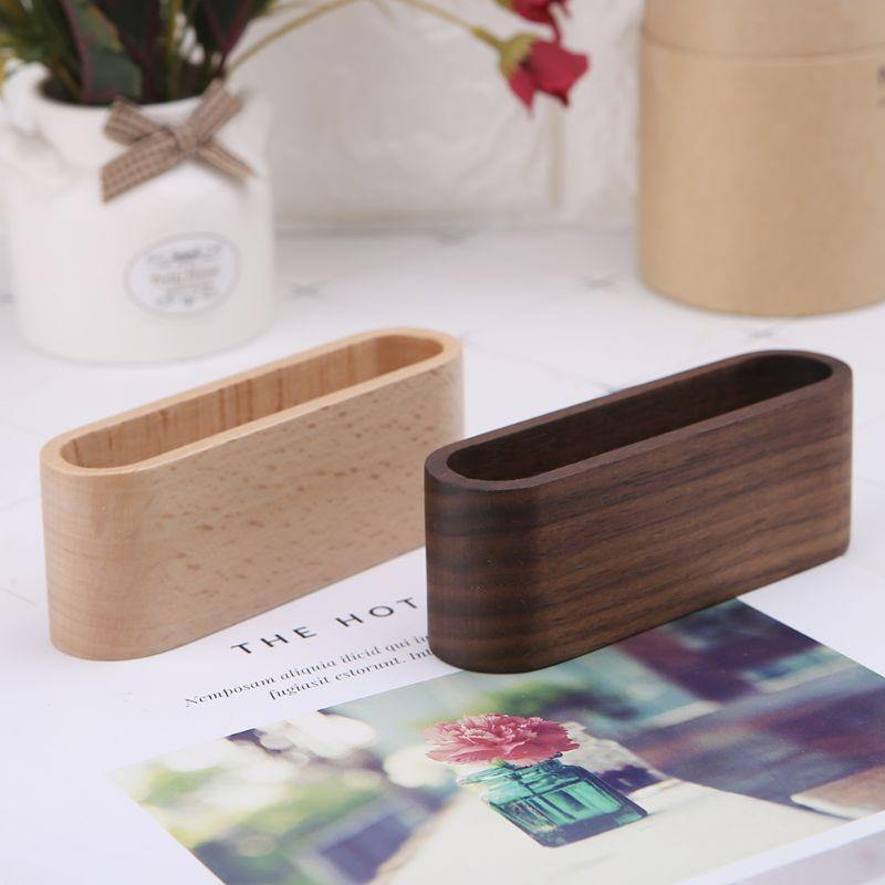 Wooden Business Card Display