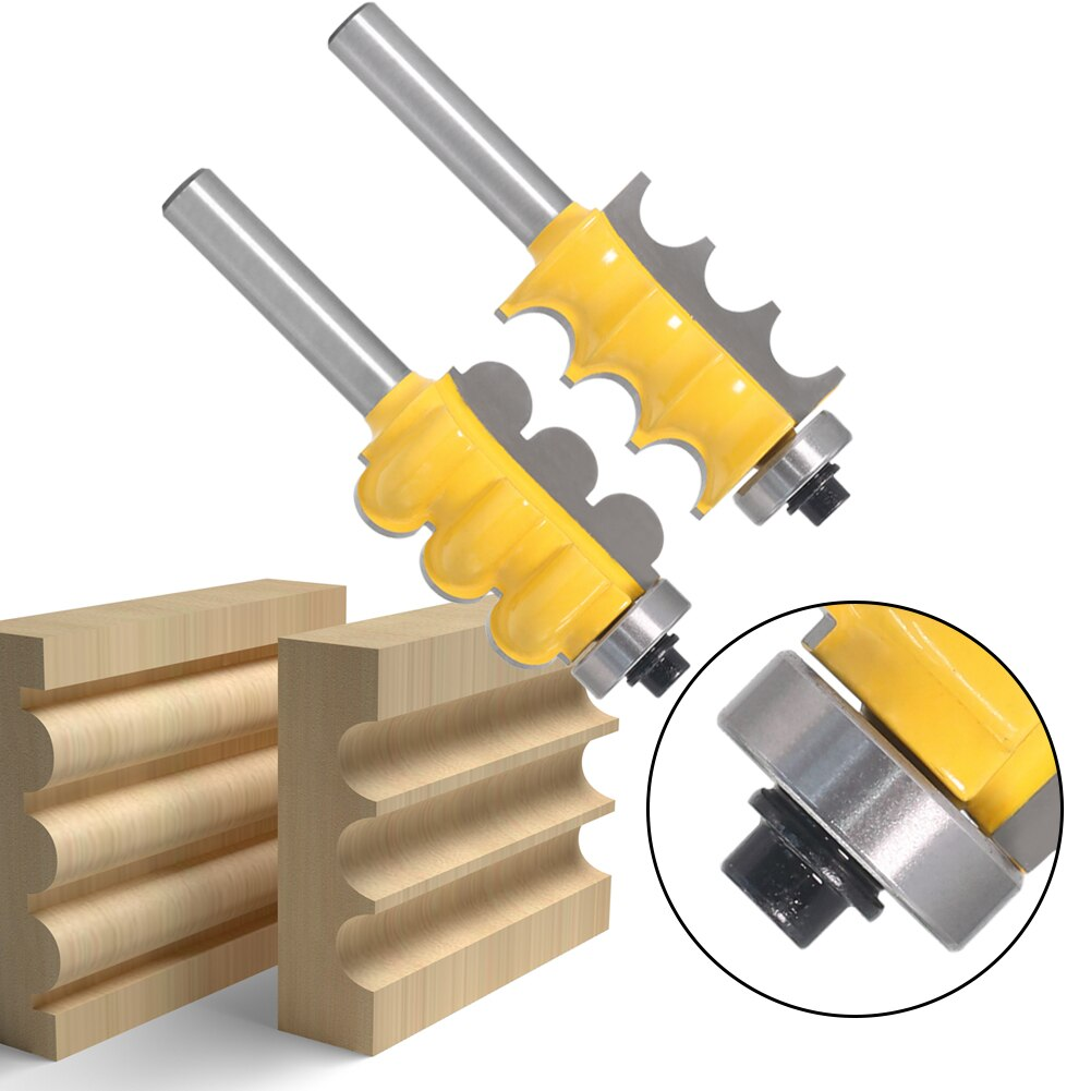 8mmmm Shank - Tungsten Carbide Triple Bead and Triple Flute Router Bit