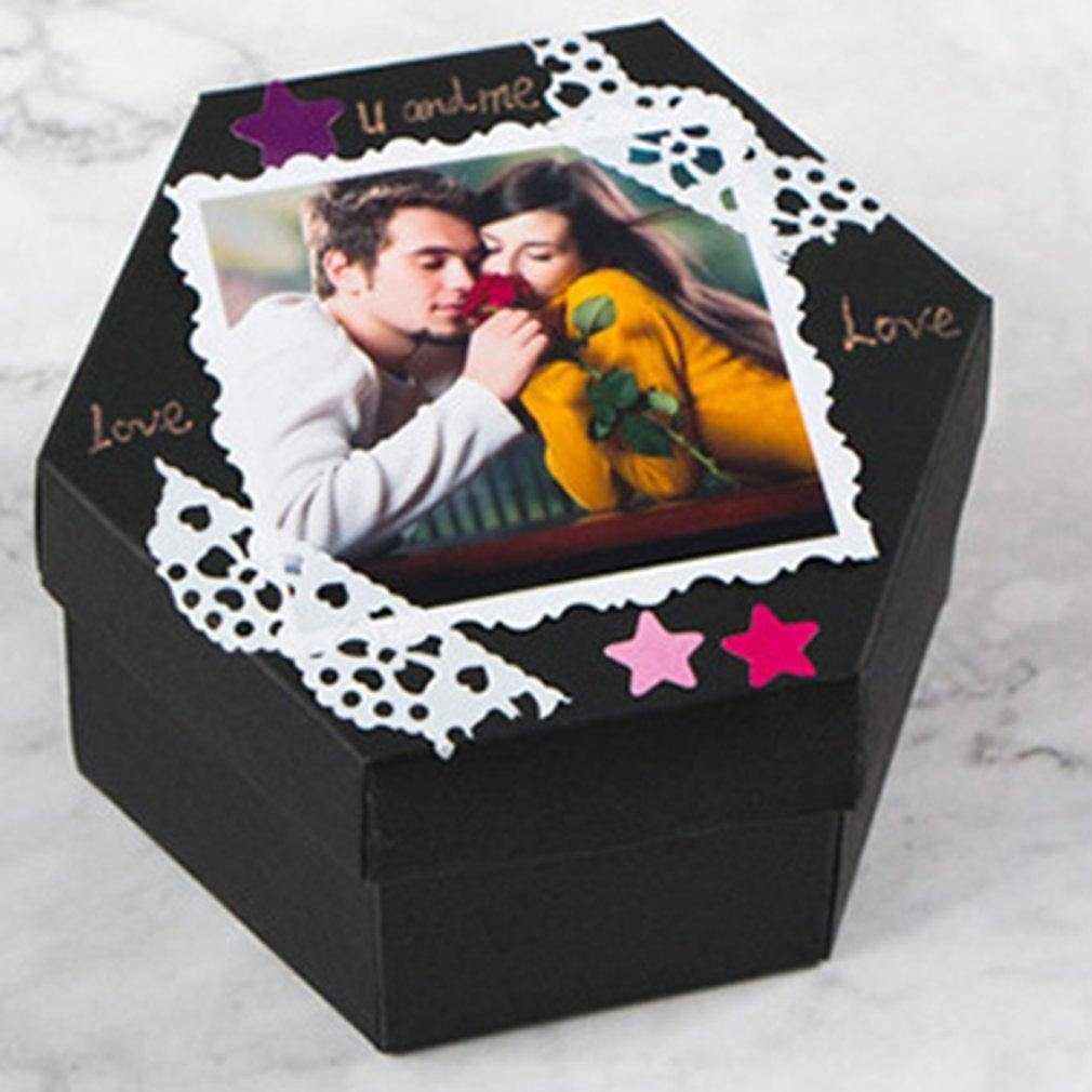Treasured Memories - DIY Photo Album Gift Box - Emerald Seaside