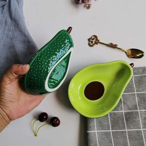 Ceramic Glazed Avocado Bowl - Emerald Seaside
