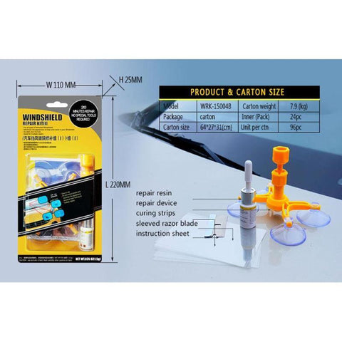 Glass Magic- Cracked Glass Repair Kit