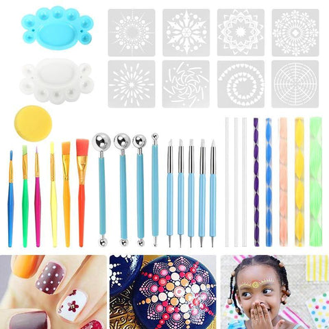 Mandala Dotting Kit - 35 pc set including stencils! - FURTHER REDUCTIONS APPLIED