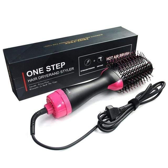 Hair Dryer Brush- 2 in 1 Hot & Cold Drying Hairbrush - Emerald Seaside