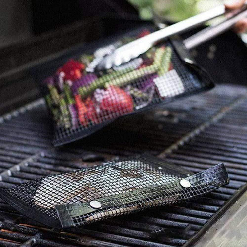 BBQ Bag- Mesh Non-Stick Reusable Mesh Grilling Bag - Emerald Seaside