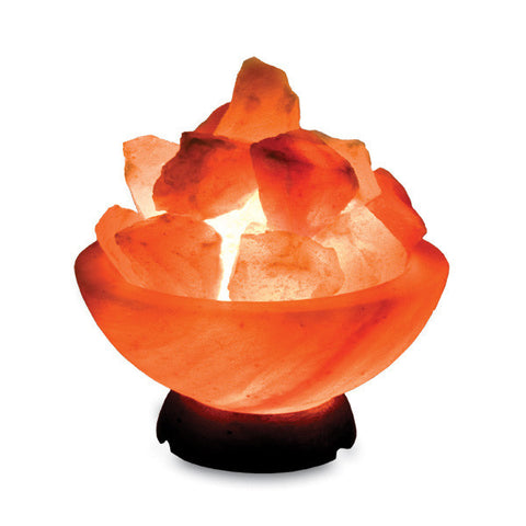 Salt Lamp - Fire Bowl (smooth cut)