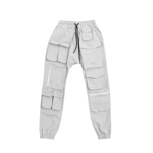 Multi Pocket Grey Cargo pants