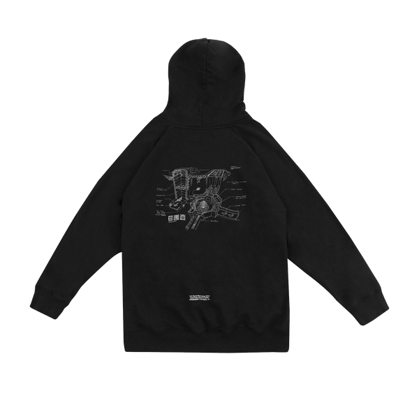 FACILITY GRAPHIC BLACK HOODIE