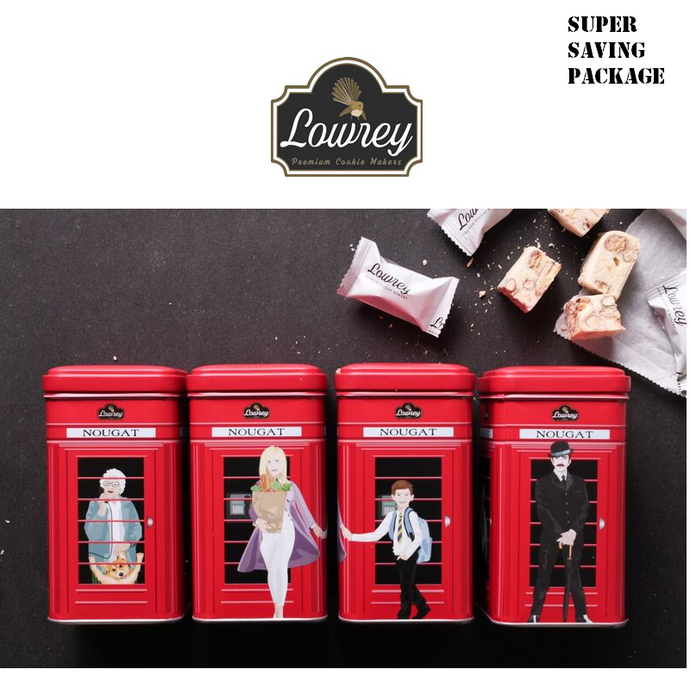 LOWREY Nougat 4 TINS Value Pack