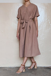 [NEW] Brown Square Dress by Tees & Scissors