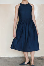 Load image into Gallery viewer, [NEW] Dark Blue Lipid Halter Dress by Tees & Scissors