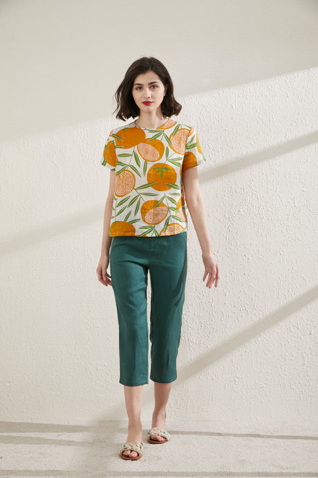 [NEW] Tangy Printed Top by Ja.Socha
