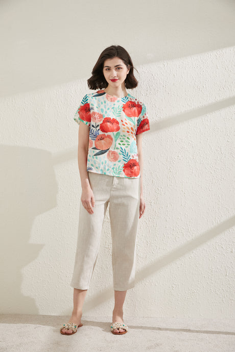 [NEW] Peony Printed Top by Ja.Socha