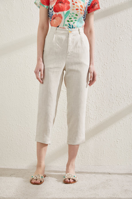 [NEW] Navajo White Straight Cut Trousers by Ja.Socha