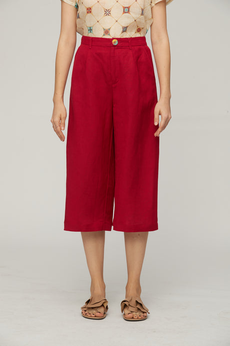 Burgundy Red Trousers by Ja.Socha