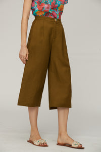 Boxy Brown Trousers by Ja.Socha