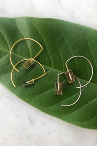 Dami Parsley Hoop Earrings by Oaksva