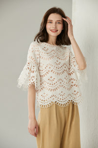[NEW] Cutout Lace Top by Ja.Socha