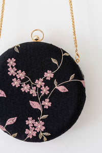 Soft Blossoms Clutch by Triple L S