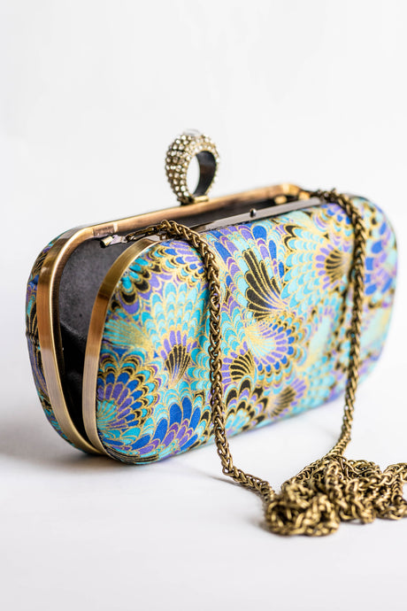 Peacock Clutch by Triple L S