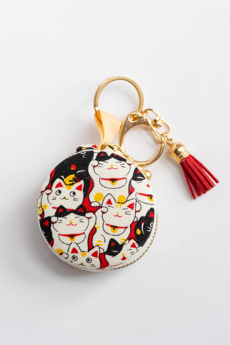 Crazy Cat Macaron Pouch by Triple L S