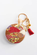 Load image into Gallery viewer, Red Batik Macaron Pouch by Triple L S