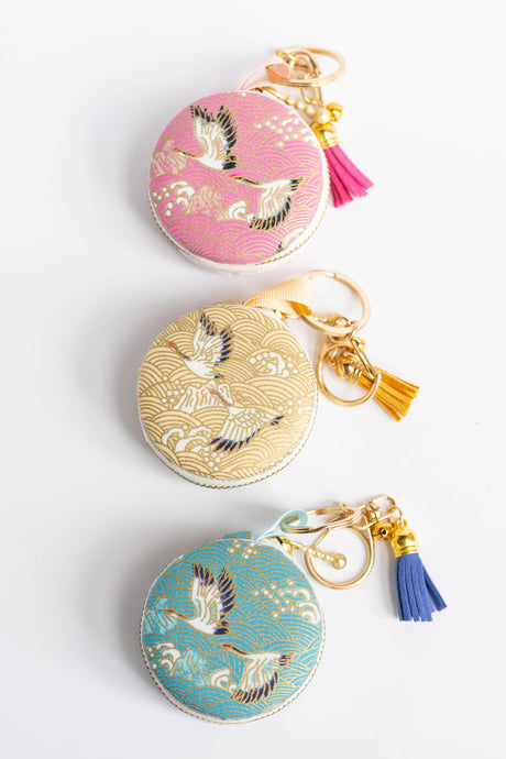 Flying Cranes Macaron Pouch by Triple L S
