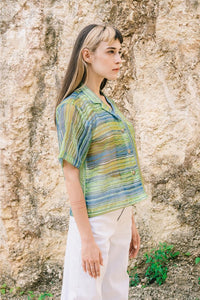 [NEW] Green Lapis Sheer Shirt by Tees & Scissors