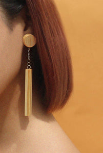 Olive Wood Earring by MUYU