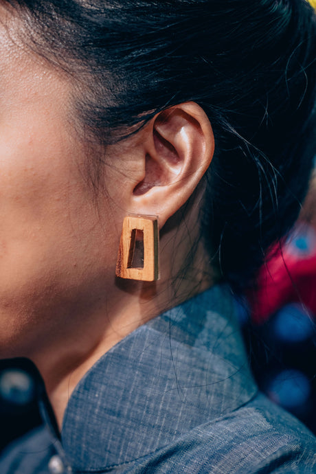Avril Wood Earring by MUYU