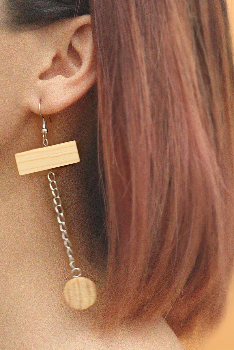 Jupiter Wood Earring by MUYU