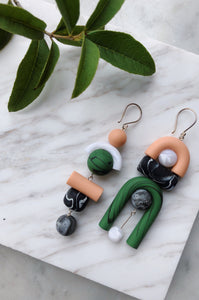 Miu Clay Earrings by Tsunja