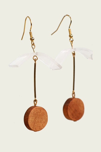 Adelia Wood Earring by MUYU