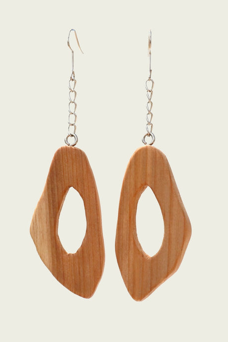 October Wood Earring by MUYU