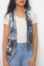 Load image into Gallery viewer, Garden Rabbit Silk Scarf by Nat