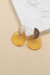 Coral Turmeric Earrings by Oaksva