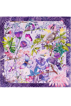 Load image into Gallery viewer, Butterflies & Birds Silk Scarf by Nat