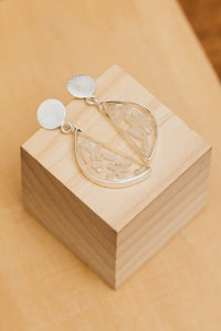 Rhea Rice Silver Earrings by Oaksva