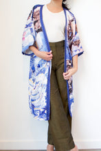 Load image into Gallery viewer, Carp & Waves Silk Robe by Nat