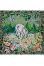 Load image into Gallery viewer, Elephant Motif Silk Scarf by Nat