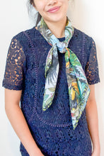 Load image into Gallery viewer, Tropical Toucan Silk Scarf by Nat