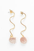Load image into Gallery viewer, Wavy Cut Beaujolais Earrings by Nuavo