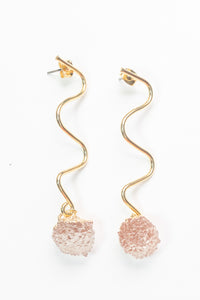 Wavy Cut Beaujolais Earrings by Nuavo