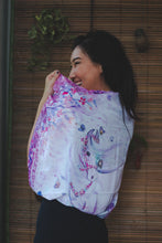Load image into Gallery viewer, Pink Horse Silk Scarf by Nat