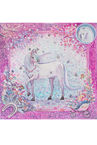 Pink Horse Silk Scarf by Nat